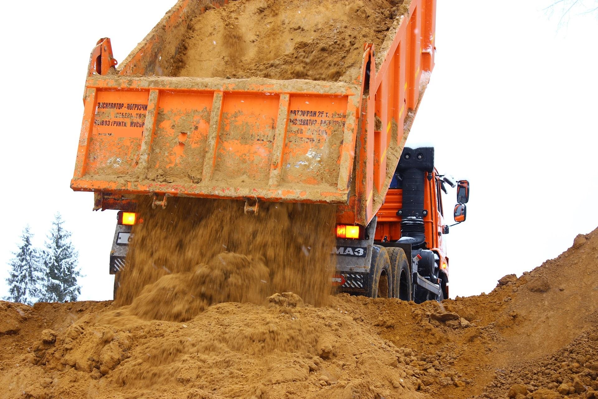 Песок с доставкой в Рузе и Рузском районе
