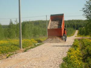 Материалы для укладки дороги в Рузе